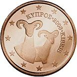 2 cents (other side, country Cyprus) 0.02